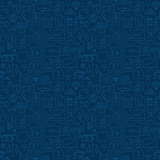 Thin Banking Line Business Finance Dark Blue Seamless Pattern
