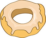 delicious sweet donut vector