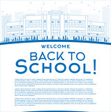Outline Back to School Concept with copy space for text.