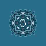 Decorative monogram background