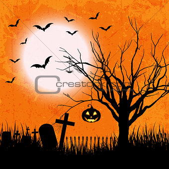 Grunge halloween background