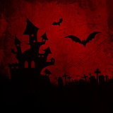 Red grunge Halloween background