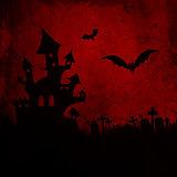 Red grunge Halloween background