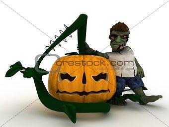 Cartoon Zombie Character