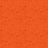 Thin Sport Line Activity Exercise Seamless Orange Pattern