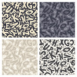 Set of Four Monochrome Halloween Backgrounds