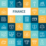 Vector Flat Line Art Modern Finance Money and Banking Business I