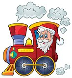 Christmas locomotive theme image 1