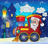 Christmas locomotive theme image 2