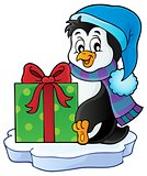 Christmas penguin topic image 5