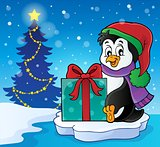 Christmas penguin topic image 6