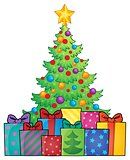 Christmas tree and gifts theme image 1