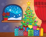 Christmas tree and gifts theme image 2