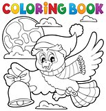 Coloring book Christmas owl theme 1