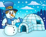 Igloo with snowman theme 3