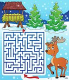 Maze 3 with hay rack and reindeer
