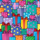 Seamless background gift theme 5
