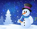 Winter snowman topic image 9