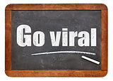 Go viral - text on blackboard