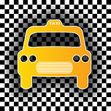 Taxi cab shaped badge