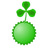 Green Clover and Circle Banner