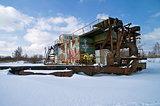 Wintering dredger