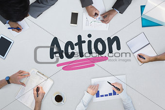 Action against business meeting