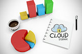 Composite image of cloud storage