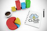 Composite image of cloud storage