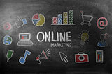 Composite image of online marketing