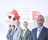 Composite image of business colleagues looking at camera