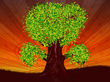 Fantasy tree of green color