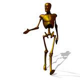 Gold cyborg