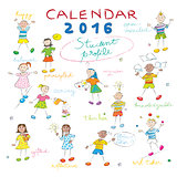 calendar 2016 kids cover