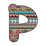 P letter decorated
