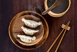 Top view Dumplings