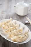 Asian meal dumplings