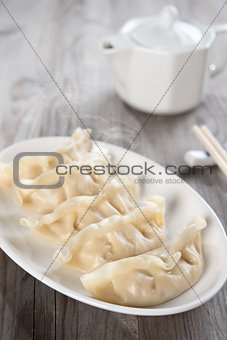 Asian meal dumplings