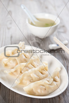 Asian cuisine dumplings