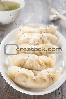 Asian Chinese food fresh dumplings