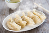 Asian Chinese meal fresh dumplings