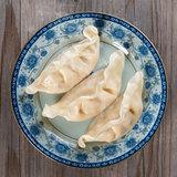 Asian Chinese gourmet fresh dumplings