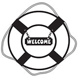 Symbol life buoy Welcome