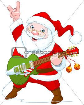 Santa Claus Plays Guitar