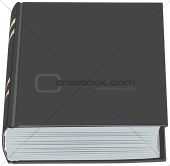 Black closed book hardcover
