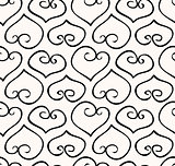Seamless hand-drawn doodle heart background