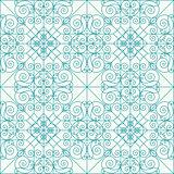 Geometric seamless ethnic background