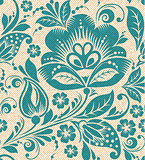 Vector flower seamless pattern element.
