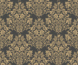 Vector Damask seamless pattern for design.