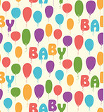 Seamless vector pattern with colorful baloons.